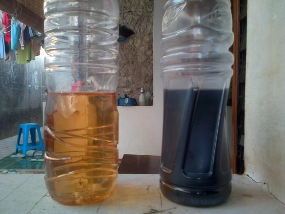 Hasil Pengujian 2 Air Sumur yang Layak Konsumsi dan Tercemar